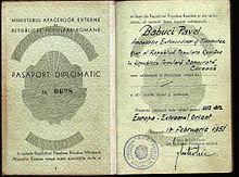 Romanian Passport Wikipedia