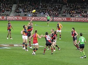 An AFL match between Essedon and Adelaide Foot...