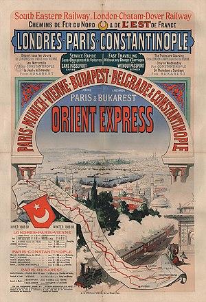 Deutsch: Werbeplakat des Orient-Express Englis...