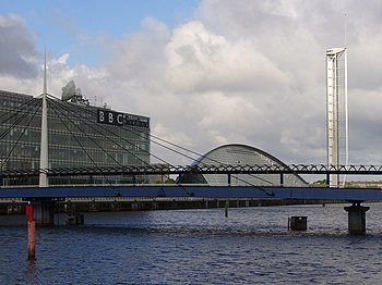 English: BBC Scotland New office buildings and...