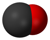 Space-filling model of the carbon monoxide mol...