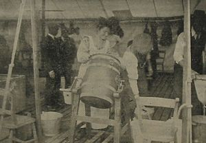 Churning butter Jersey 1912