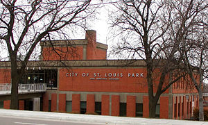 The city hall for the city of St. Louis Park, ...