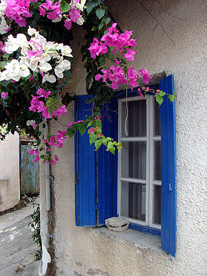 Casement window on Crete