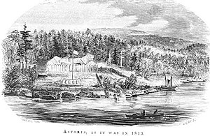 English: Fort Astoria, 1813