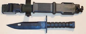 Adopted in 1984, the U.S. M9 bayonet and sheat...