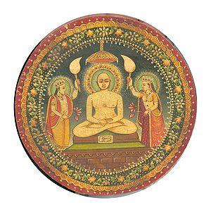 Painting of Mahavira (small painting, Rajastha...