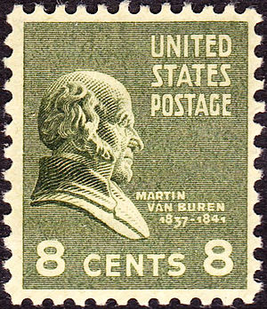 English: US Postage stamp: Martin Van Buren, I...