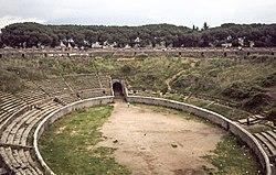 Çoğunlukla çekimin yapıldığı Pompeii Tiyatrosu
