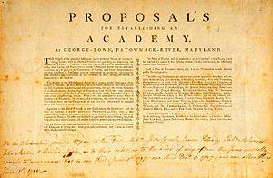 English: The proposal to establish an academy ...