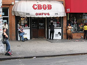 Legendary punk rock club where bands as Televi...