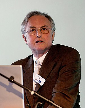 English: Richard Dawkins giving a lecture base...