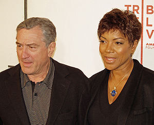 Robert De Niro and his wife Grace Hightower at...