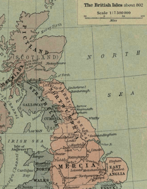 Section from Shepherd's map of the British Isl...