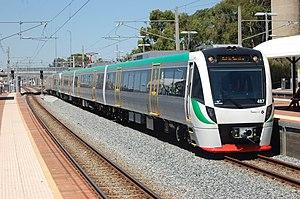 Transperth B-series train at McIver station