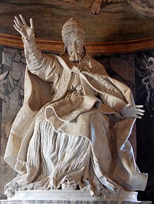 Statue of Pope Urban VIII sculpted by Gian Lor...
