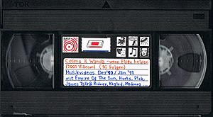 English: old BASF video tape, recorded with ep...