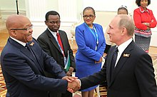 Zuma in Moscow to celebrate the 70th anniversary of the end of World War II, 9 May 2015