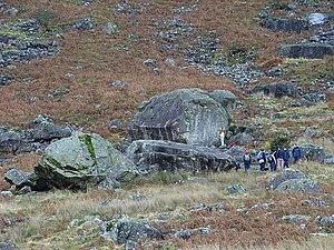 English: Boulder problem, foot of Carrock Fell...