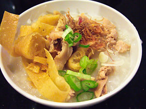 Chicken porridge, Jakarta, Indonesia
