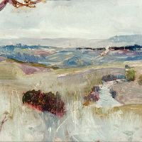 """Dandenongs from Heidelberg"" by Charles Conder"