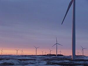 Fenton Wind Farm near Chandler, Minnesota