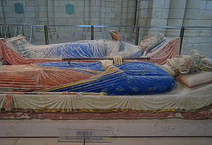 Abbey of Fontevraud in France, Tomb of Henry I...
