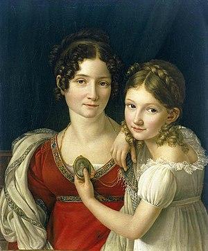 Henri-François Riesener - Mother and Her Daugh...