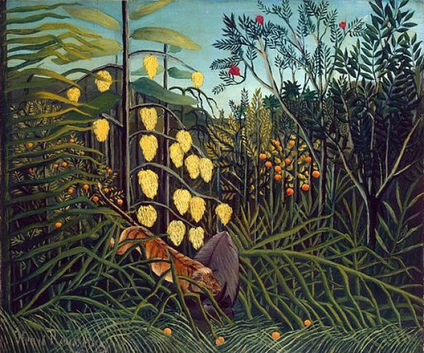 Henri Rousseau - Combat of a Tiger and a Buffalo