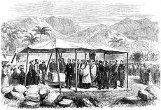 ceremony under tent