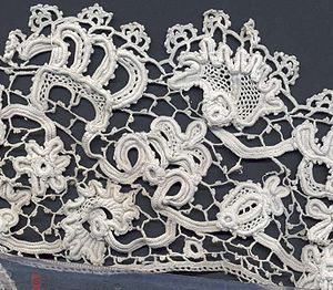 Irish crochet lace, late 19th century. The des...