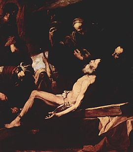 Martyrdom of St Andrew by Jusepe de Ribera, 1628