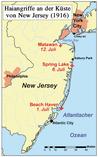 Karte mit dem zeitlichen und geografischen Verlauf der Angriffe