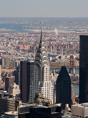 English: aerial view from Empire State Buildin...