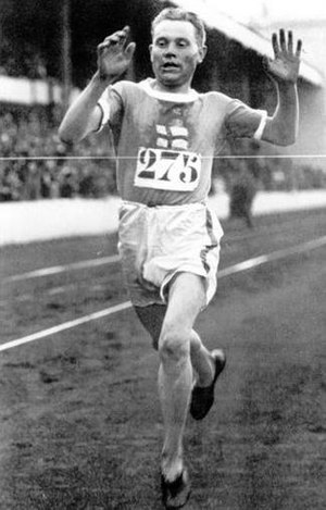 Paavo Nurmi at the 1920 Summer Olympics in Ant...