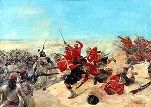 Depication of the battle of Tel-el-Kebir