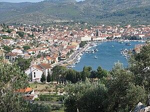 Vela Luka (Chorwacja) widok z wzgórz