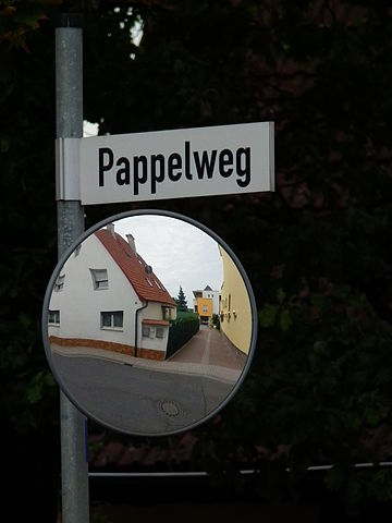 German road sign (via Wikimedia Commons)