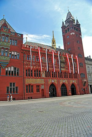 English: Basel City Hall Deutsch: Rathaus Basel