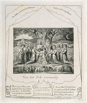 1st print from William Blake's Illustrations o...