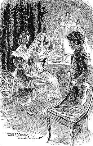 Miss Havisham, Pip, and Estella, in art from t...