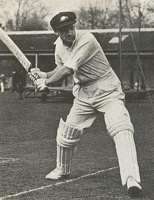 Donald Bradman, australian cricket player. pho...