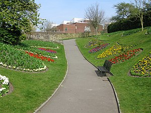 English: Guildford castle gardens