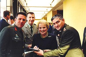 Madeleine Albright with NATO officers