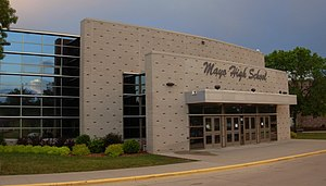 main entrance to Mayo Public High School in Ro...