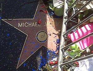 Cropped from :File:Michael Jackson Star on Hol...