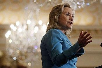 Secretary of State Hillary Rodham Clinton intr...