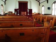 Pews of the First Methodist Church in Monroe, ...