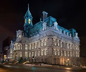 Montreal City Hall Français : Image panoramiqu...