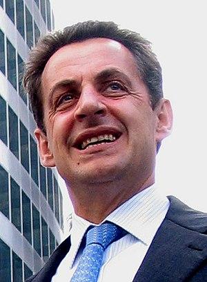 Nicolas Sarkozy à la Défense (Paris)